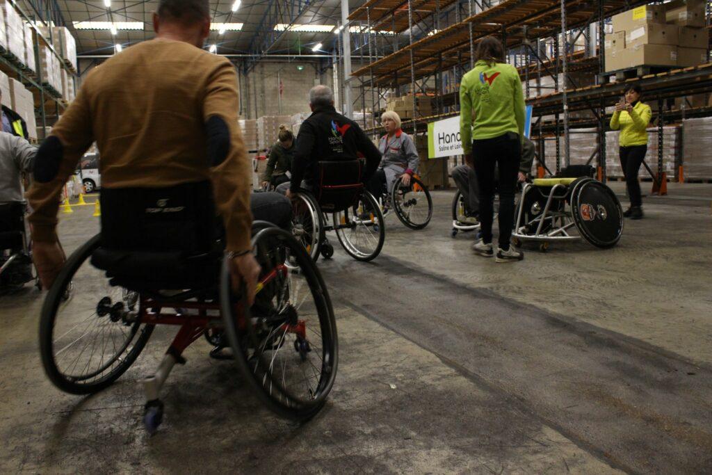 essai fauteuil sensibilisation en entreprise CDH71
